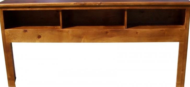 Permalink to Solid Wood Bookcase Headboard