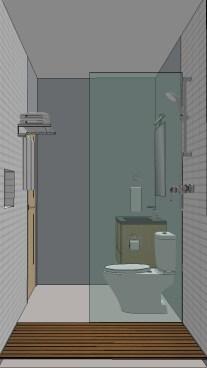 Birdsmouth ADU 2 Bathroom Rendering