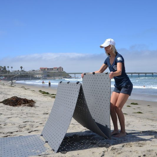 Beach Trax Unfolding by Kelly