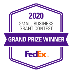 Logo: 2020 FedEx Small Business Grant Contest Grand Prize Winner