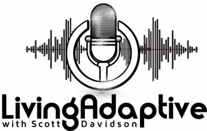 Logo for Living Adaptive Podcast hosted by Scott Davidson