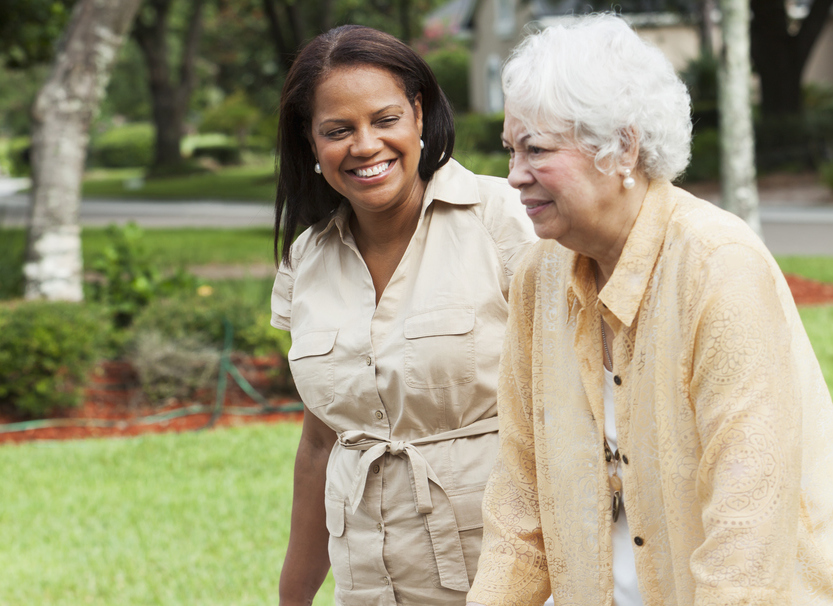 Walking with caregiver