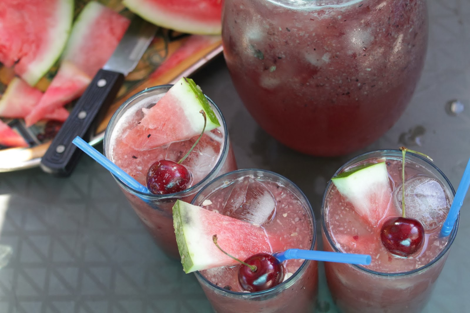 Refreshing Berry and Watermelon Coolers