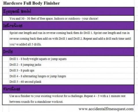 Hardcore Full Body Finisher Workout