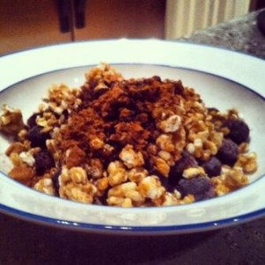 Kashi with Blueberries