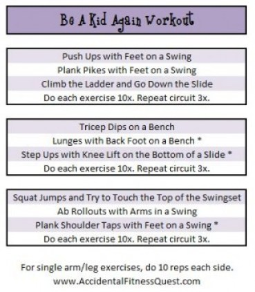 Be A Kid Again Workout