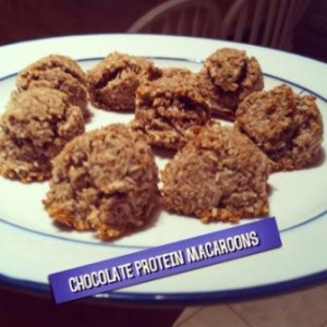 Chocolate Protein Macaroons