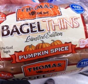 Pumpkin Spice Bagel Thins