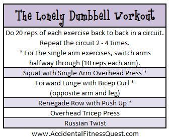 Lonely Dumbbell Workout