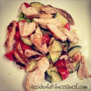 Grilled Chicken Edamame Salad