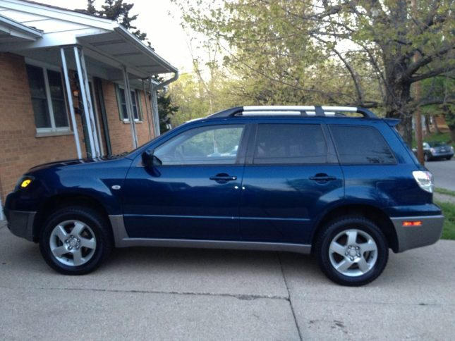 2004 Mitsubishi Outlander - paid for with cash