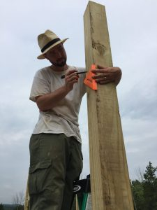 How we built our own pole frame for a cordwood house
