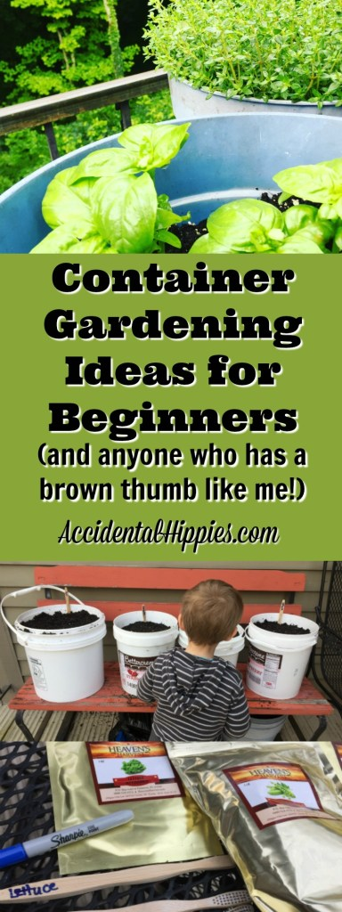 Zero-waste seed markers, FREE containers, and buckets full of great container gardening ideas!