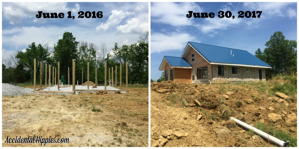 Progress building a cordwood house after one year!