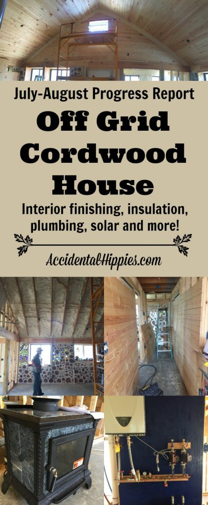 Off grid building, our cordwood house, interior construction, off grid systems, and more! #cordwood #offgrid