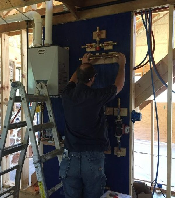 Radiant heat can be installed by a knowledgable DIYer. Learn more about how we're doing this and more in our off-grid home build.