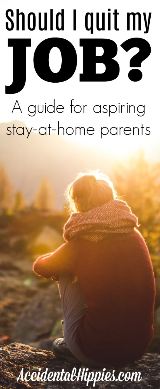 Making the decision to stay home with your kids isn't always easy. Here's what you should do before you make the leap. #stayathomemom #personalfinance #oneincome