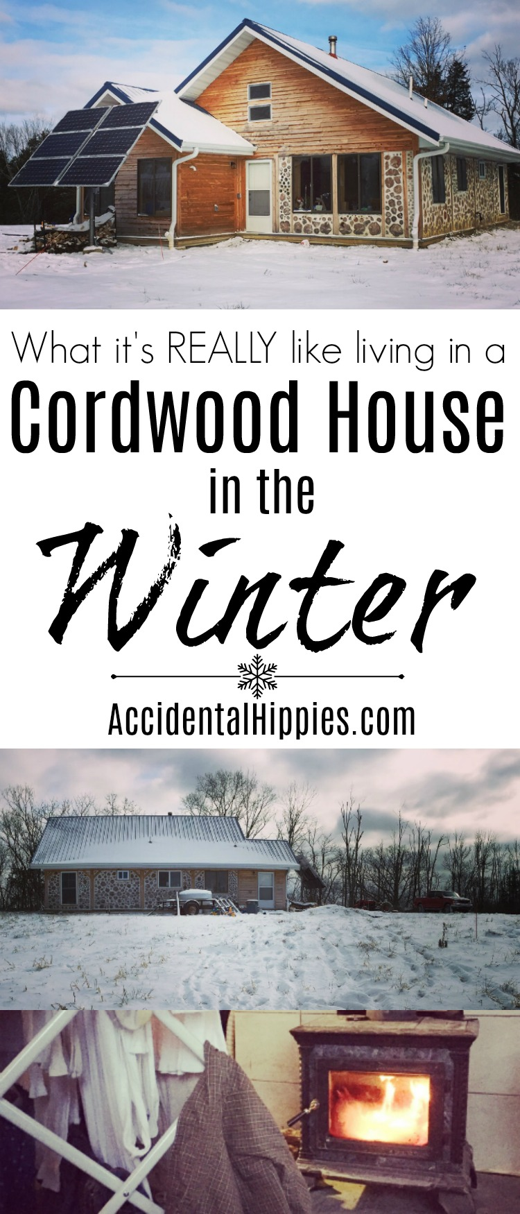 Cordwood is beautiful but how does it hold up in the winter? Is it drafty? Cold? Find out our experiences and more here.