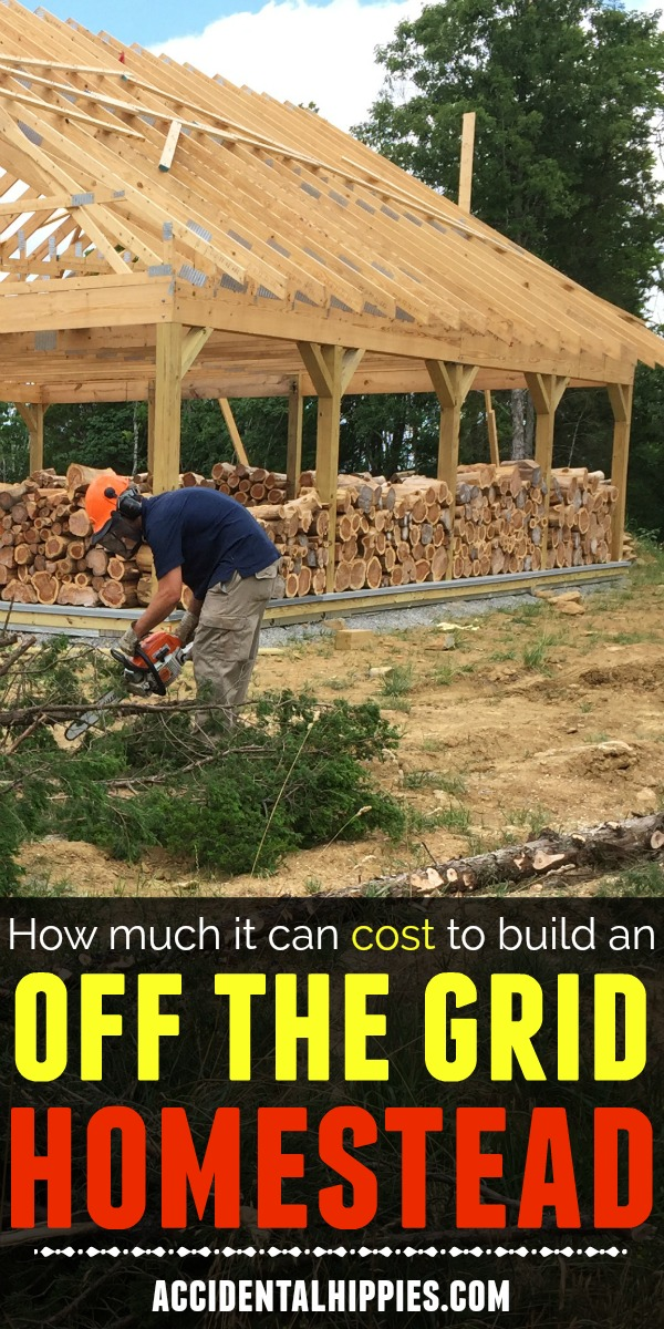 Every home building situation is different. There is a lot to consider when you want to build your own off grid homestead from scratch. Check out the total cost breakdown of our own off grid home build to get some perspective on how much things CAN cost (and learn how you could potentially do it cheaper) #homesteading #homestead #offgrid #offthegrid #solarpoweredhouse #ownerbuilder #buildahouse #housefromscratch #housebyhand