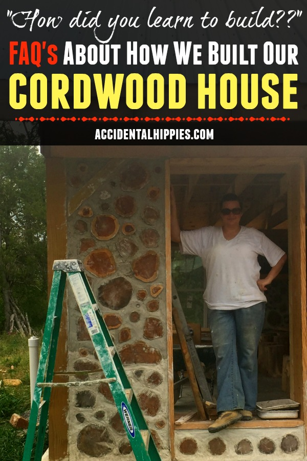 We built our own cordwood house from scratch. How did we learn to do it? Did we have to get a permit? And what did it cost to build? Find out in this post. #cordwoodmasonry #offgrid #homesteading