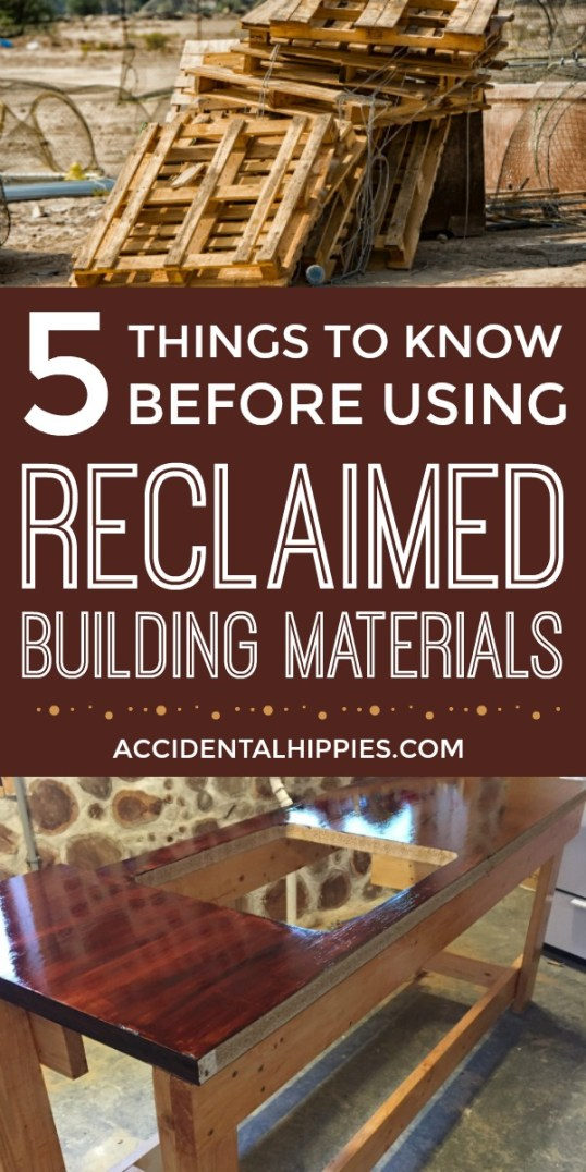 Using pallets for your next building project sounds awesome, but is it safe? What about installing used windows or framing with telephone poles? Here's what you need to know before using reclaimed building materials.