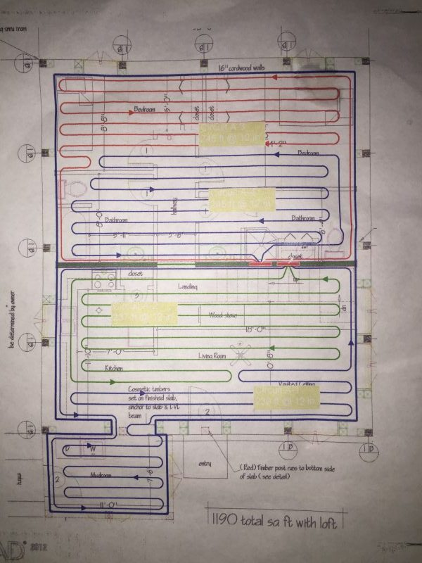 Radiantec sent us a customized radiant heat plan for our home's layout. We installed it ourselves and learned a lot about what to do and what NOT to do. Here's what you should know before you DIY.