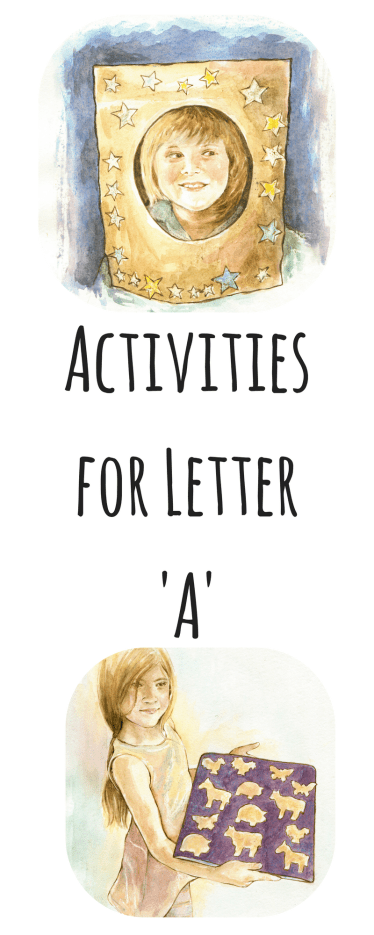activities for the 'A' sound pinterest image