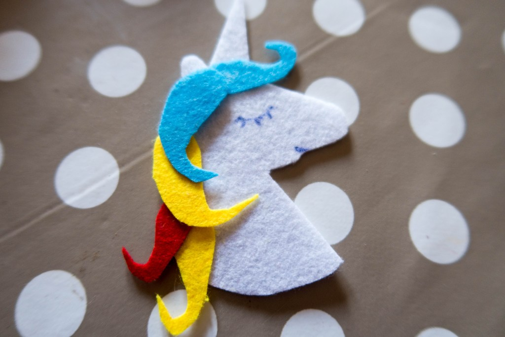 Unicorn template used for the Sew + Glow kit