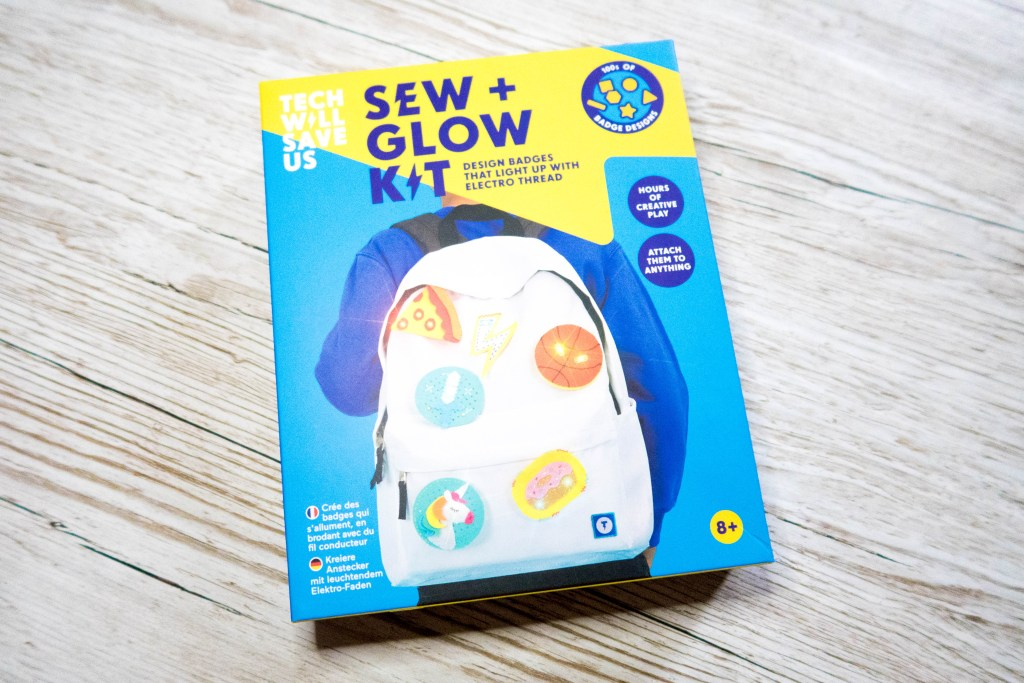 Sew + Glow kit box STEM toy for tweens