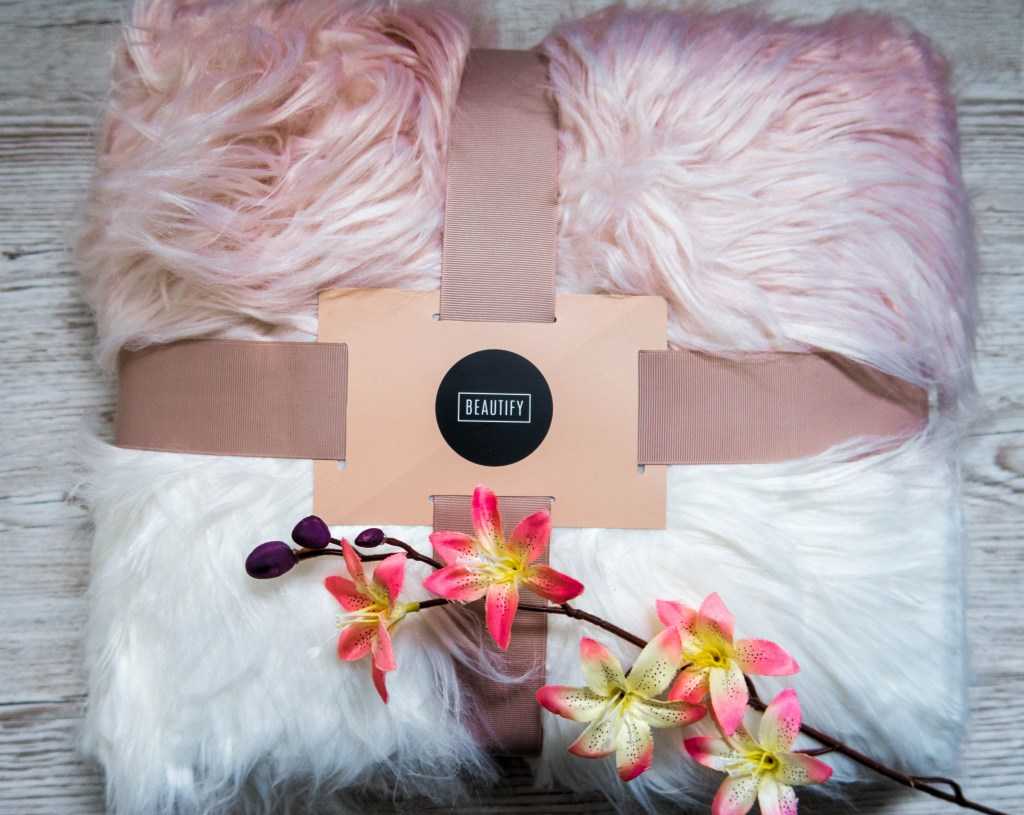 pink ombre furry throw for the Tween Girls' Gift Guide - Gift Ideas for Girls Aged 8-12