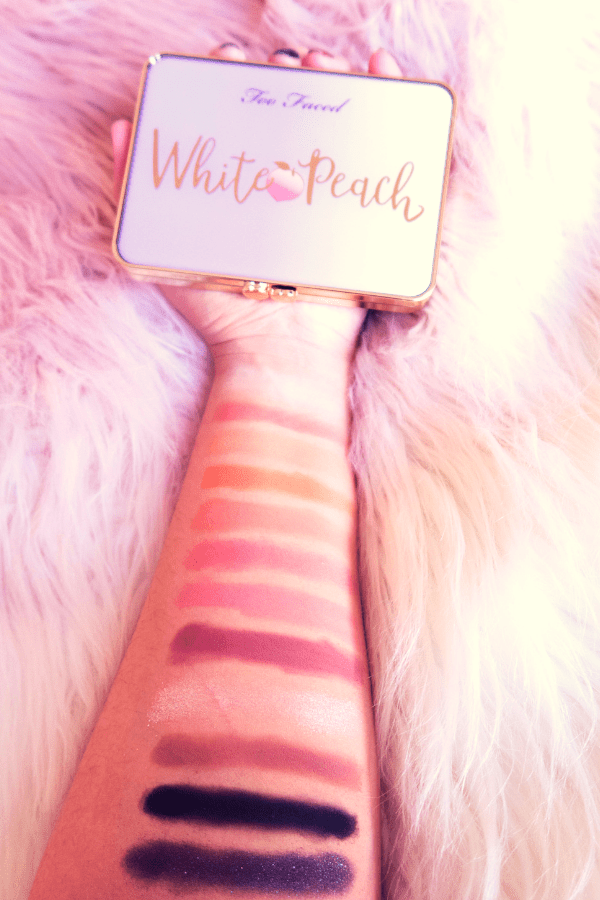 Too Faced White Peach Palette swatches and honest review of palette. This Too Faced eyeshadow palette is perfect for all abilities of makeup user, even a beginner could get along with the Too Face White Peach Eyeshadow palette
