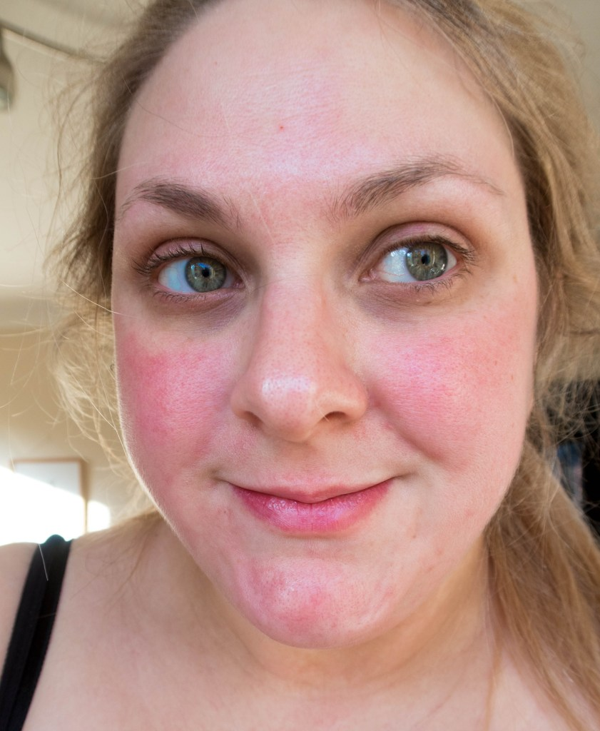Makeup free face before I use any Barry M products