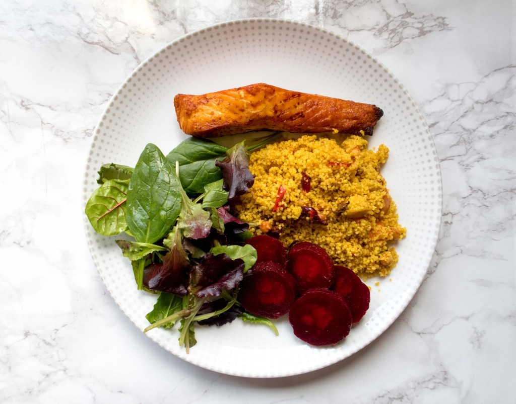 Salmon & Moroccan Inspired Cous Cous