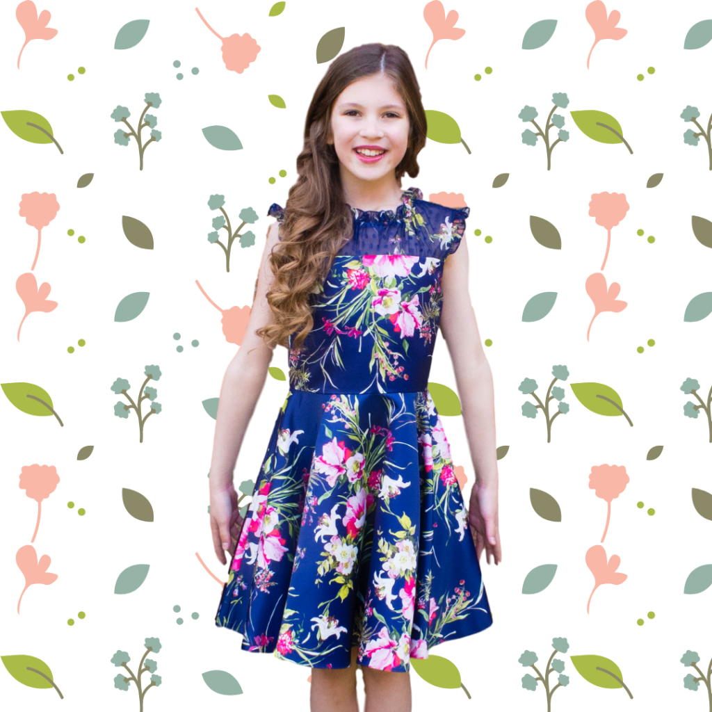 David Charles Childrenswear Review: Classy party dress for teen and tween. Perfect wedding guest dress or for christenings