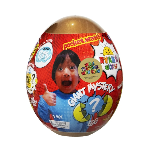 Large surprise egg with Ryan from Ryans World on the front