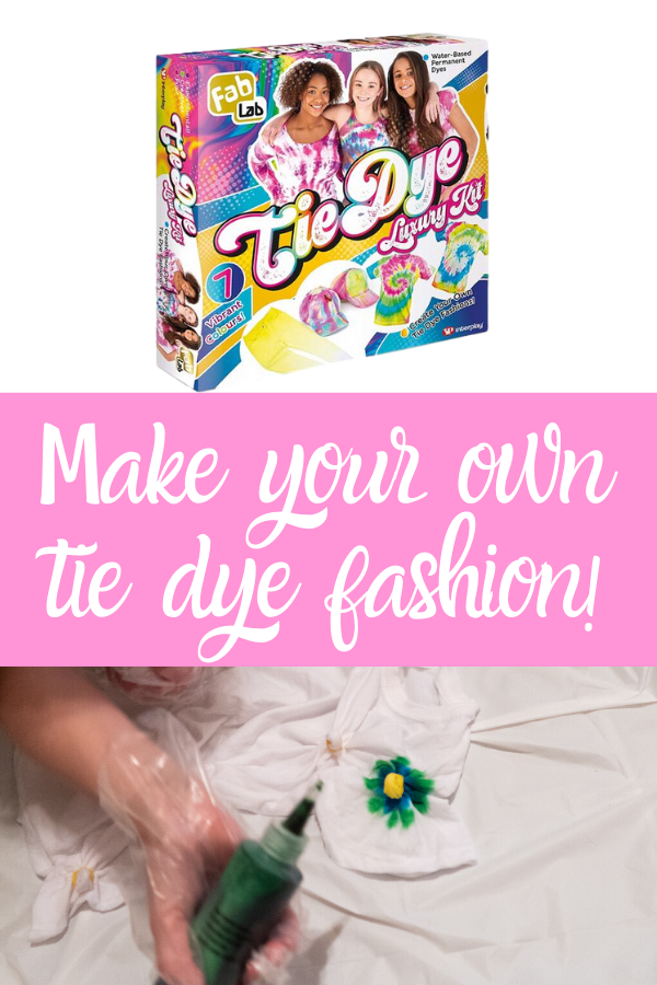 Make your own tie dye fashion at home! This FabLab tie dye kit is great for all fashion lovers #tiedye #tiedyekit #tweengirl