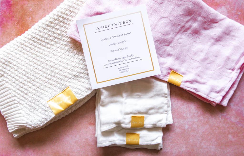 Inside the mini joy baby gift set