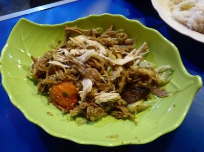 Oyster Mushroom Oseng Oseng, a speciality in Borobudor.