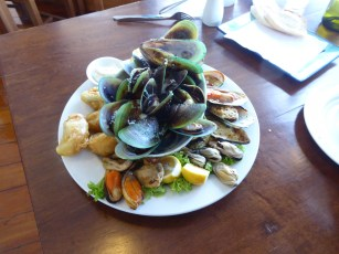 The famous New Zealand Green Lipped Mussels