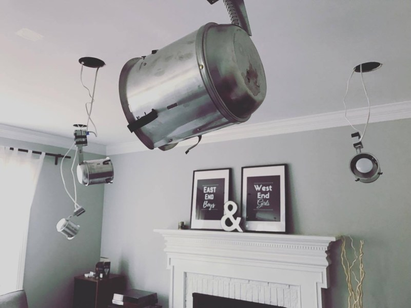 Replacing a Ceiling Fan with DIY Recessed Lights   Accidental     17311407 10212880066944427 526203788 o