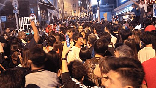 Halloween-crowds-in Lan-Kwai-Fong-Hong-Kong