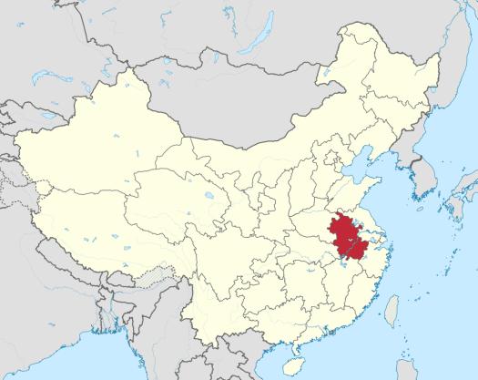 China-map-anhui-province