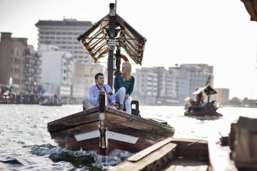 Uae-dubai-tourism-sailing-an-Abra-on-Dubai-Creek