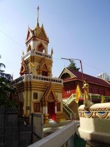 Buddhist Temple in Bangkok's Old Quarter