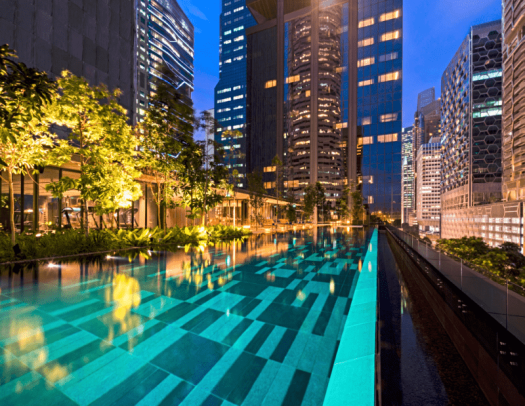 Singapore-hotel-oakwood-premier-que-Infinity-pool