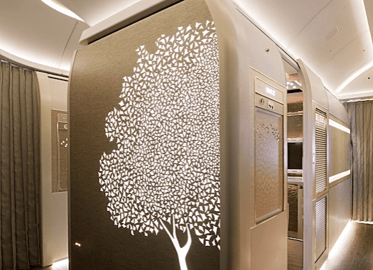 Aviation-emirates-airline-Ghaf-Tree-motif-in-First-Class