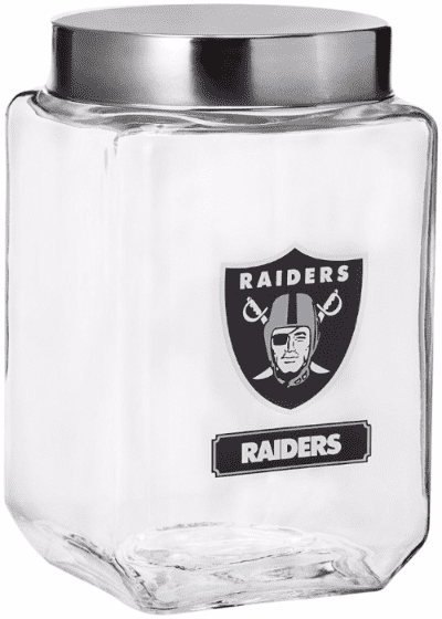 Raiders-glass-canister