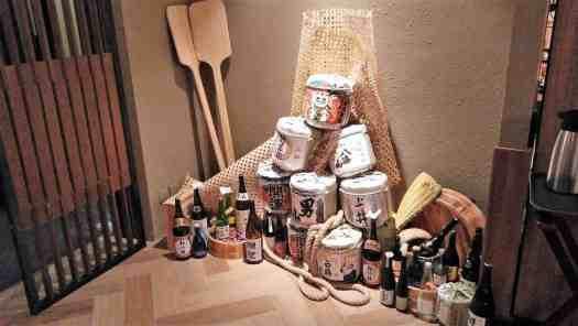 image-of-sake-bottles-and-barrels-at-japanese-restaurant-in-hong-kong