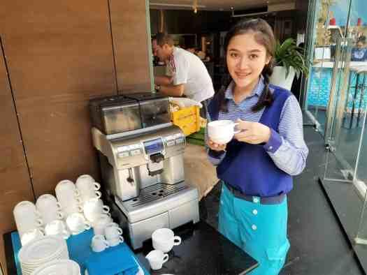 image-of-sea-restaurant-hotel-coffee-machine-baraquda-pattaya-thailand