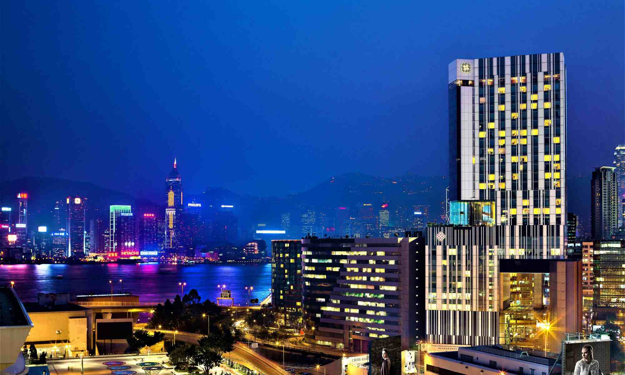 image-of-hotel-icon-and-victoria-harbour-hong-kong-at-night